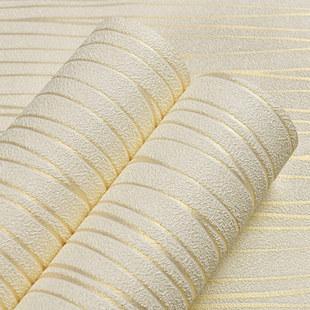 立體條紋無紡布臥室客廳背景墻紙環保3d現代簡約素色硅藻泥壁紙