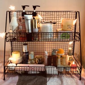 化妆品收纳盒桌面置物架护肤品收纳架子网红ins多层书桌宿舍神器