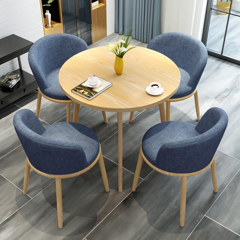 北欧洽谈接待桌椅组合休闲办公室创意简约个性咖啡厅奶茶店餐桌椅