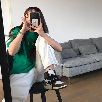 王少女的店 阔腿休闲裤2021新款春秋夏灰色垂感宽松直筒裤子