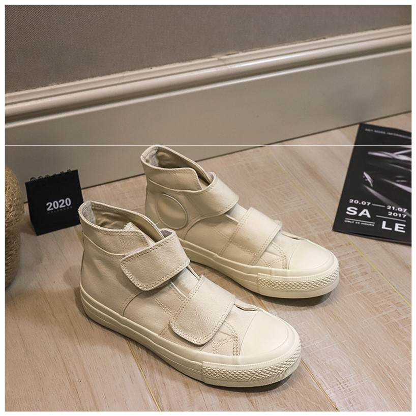 Canvas shoes womens high top magic stick Yamamoto pedaling 2020 New Retro Hong Kong style board shoes ins small white shoes autumn