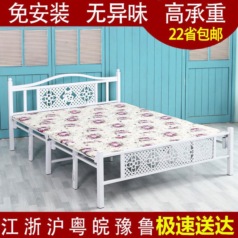成人折叠床家用单人床双人床出租房屋木板床简易便携办公室午休床