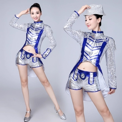 Новый сэр танец царство хань танец одежда борьба песня одежда блестки производительность одежда взрослых женщин DS ночные клубы тонкий сексуальный этап установите