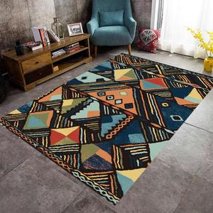北欧摩洛哥复古民族风地毯客厅沙发茶几垫创意个性地毯卧室床边毯