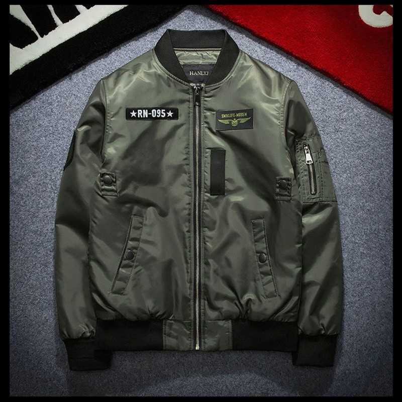 Spring air force pilot jacket mens coat couple youth thin style MA-1 baseball suit locomotive work clothes trend brand