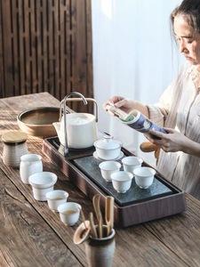 茶盘家用套装全自动一体小号功夫茶具电磁炉自动上水烧水壶小茶台