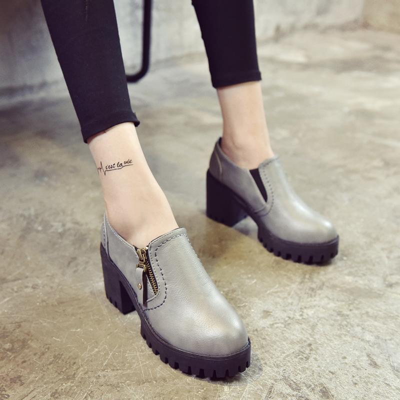 2016 новой корейской версии грубой молния короткие сапоги с Сапоги зимние водонепроницаемые повседневные обуви простой Джокер Мартин