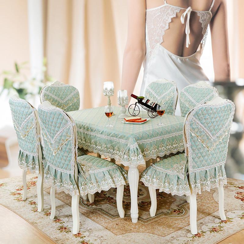 餐桌布艺椅垫椅套套装欧式餐厅时尚椅子靠背套餐椅套套装椅垫椅背