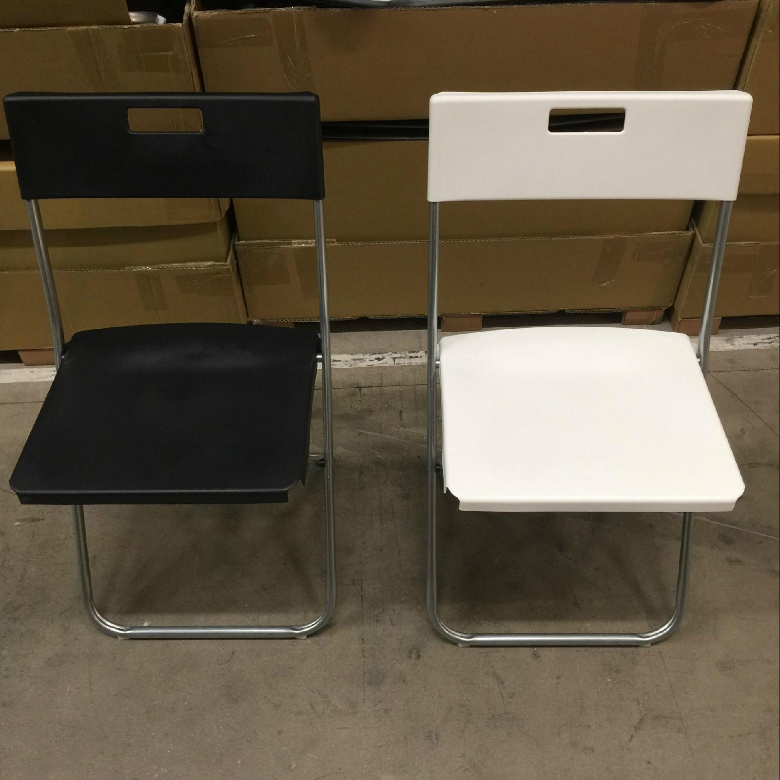宜家国内代购 冈德尔 折叠椅靠背椅 办公电脑椅 餐椅 便携 黑白色
