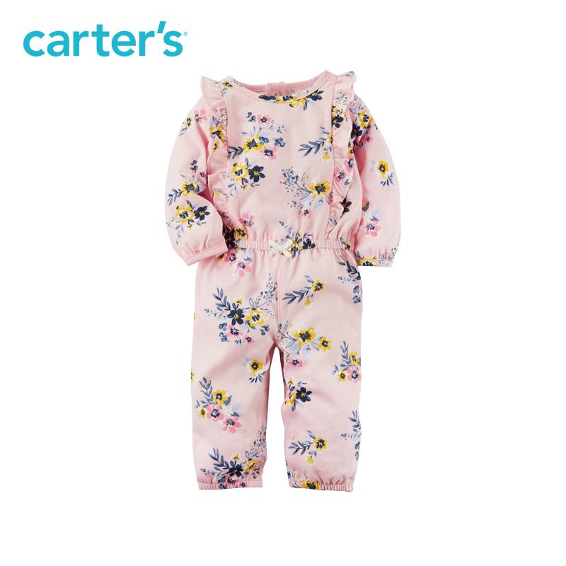 Carter's 荷叶边全棉长袖连体衣 *2件 102元包邮(需用券)