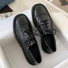 小皮鞋女英伦风黑色单鞋2020春秋新款百搭平底复古一脚网红懒人鞋图片