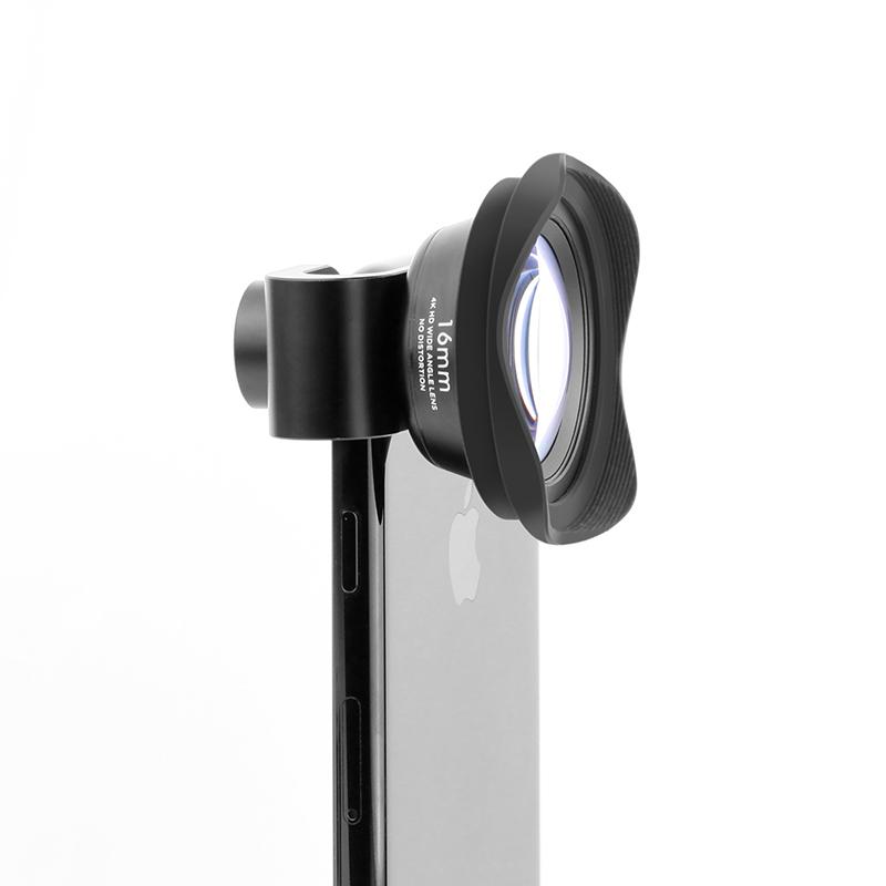 pholes 16mm无畸变超广角手机镜头微距鱼眼iphone7plus6华为