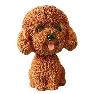 創意小狗狗樹脂擺件車內飾品家居裝飾辦公桌擺設可愛搖頭生日禮物