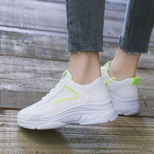 夏季透气网面休闲白色女鞋子运动鞋