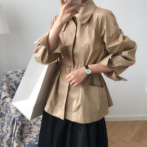 卡其色小个子风衣女收腰薄款2020春秋宽松流行气质时尚英伦风外套