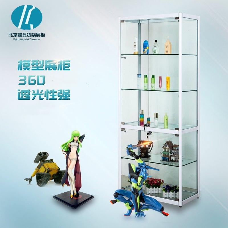 玻璃展示柜手办模型展示柜化妆品展柜精品展柜陈列柜产品货架展柜