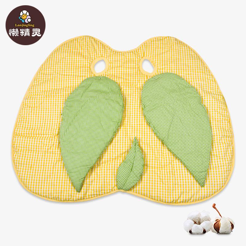 懒精灵 小苹果宝宝纯棉防踢被新生婴儿可拆袖睡袋 夏季薄款空调被