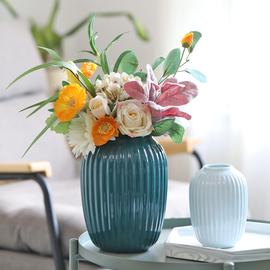 北欧陶瓷花瓶客厅插花简约现代鲜花水养日式创意餐桌干花装饰摆件图片