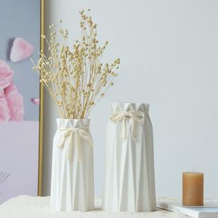 简欧现代日式简约陶瓷花瓶花插摆件工艺品摆件客厅家居家饰装饰品
