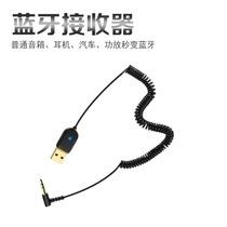车载蓝牙接收器AUX连接线汽车电子影音发射器3.5音频线车用数据线