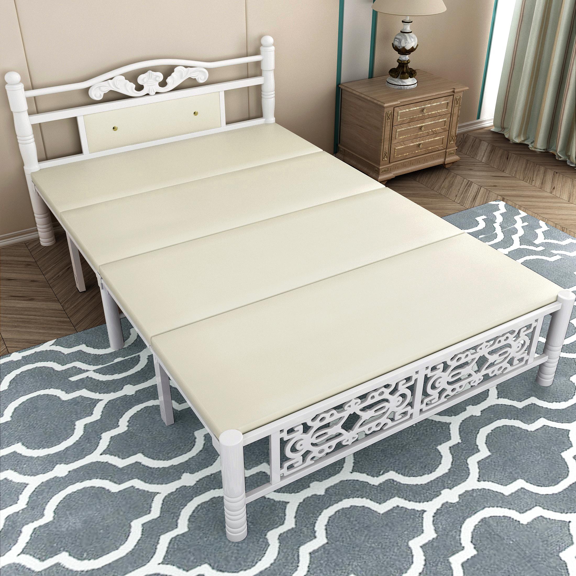 折叠床双人木板床出租房午休简易床1.2米1.5米家用成人单人床铁床