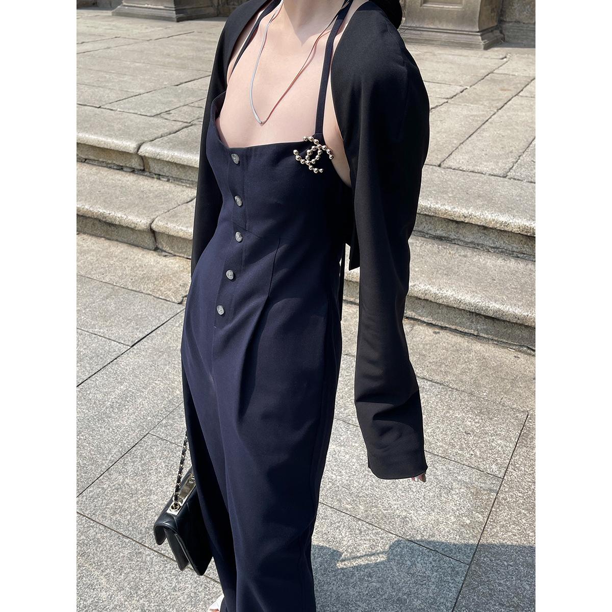 量訫 拒绝紫外线防晒衣女ins设计薄款短款外搭百搭防晒西装小披肩