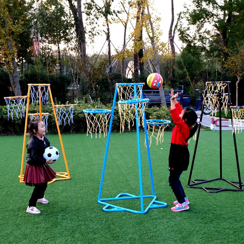 Kindergarten childrens iron basketball frame detachable outdoor shooting frame toys standard basket frame 3-8 years old ball toys