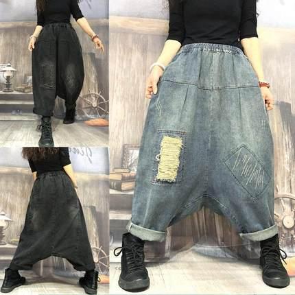 牛仔裤女秋时尚潮流新款大码图片