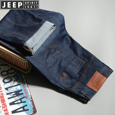 JEEP/吉普男装春季新品时尚休闲宽松直通大码牛仔裤薄款355#P98