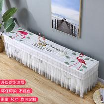 定制型防水蕾丝全包电视柜罩长方形客厅防水桌布防尘罩北欧