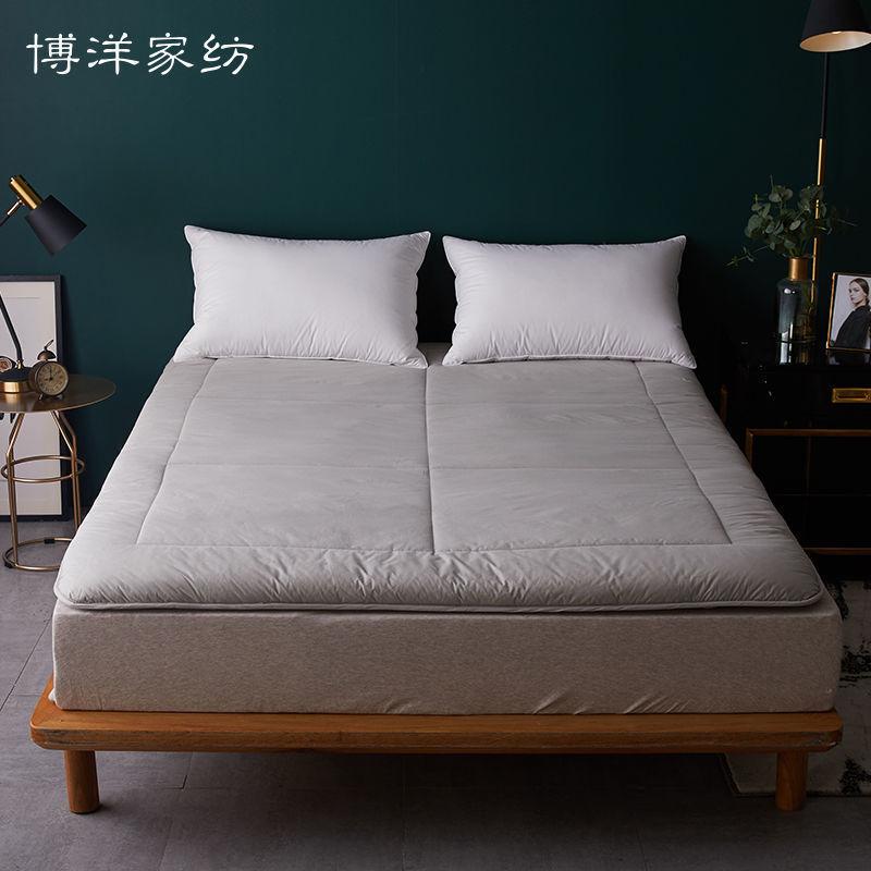 博洋冬季全棉竹炭纤维床垫软垫夹棉加厚保暖垫被可折叠床褥子垫子