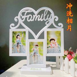 创意韩版组合相框摆台婚纱照宝宝影楼4寸照片家庭像框洗相片制作