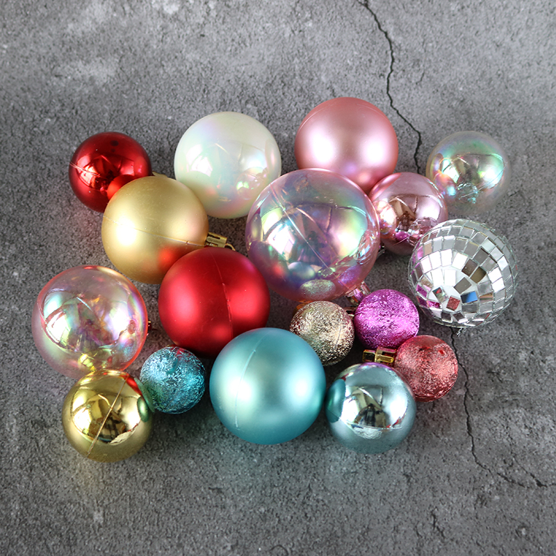 Christmas Birthday Party Cake Decoration ins style colorful frosted smooth surface dumb wish ball