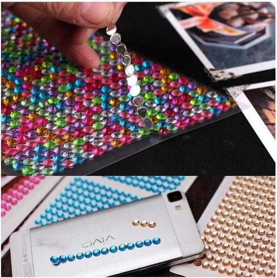 珍珠钻贴十字绣钻贴纸diy相册钻贴画手机饰品汽车贴钻星星钻帖纸