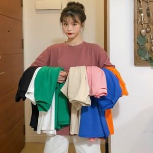 纯棉体恤2020夏季新款网红糖果色半袖上衣韩版百搭短袖宽松T恤女