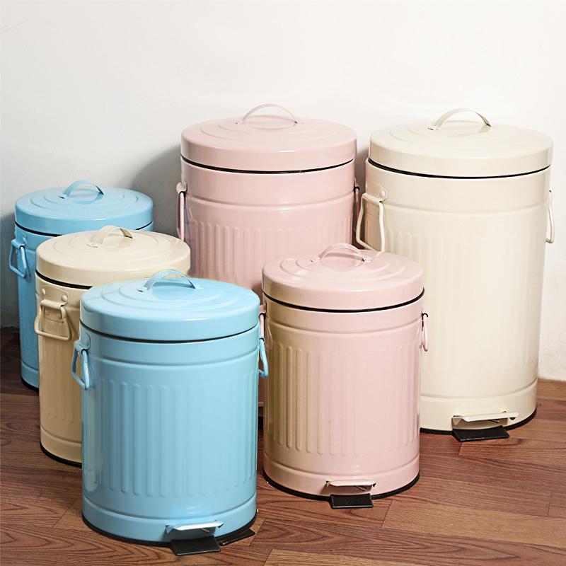 创意欧式四款彩色加厚家用垃圾桶