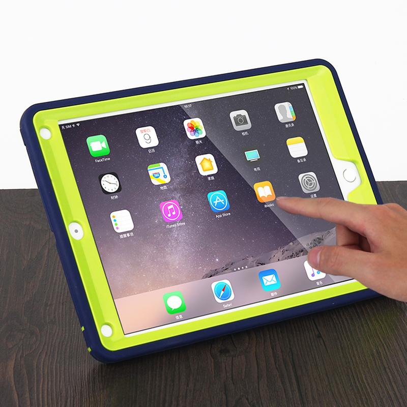 2017新款ipad保护套硅胶全包边mini34苹果平板air5防摔壳pro9.7寸