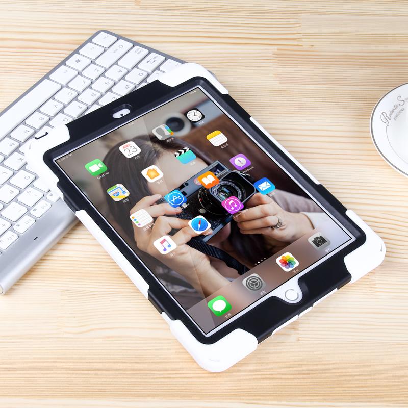 2017新iPad保护套pro9.7寸硅胶防摔壳air苹果平板mini4全包边支架