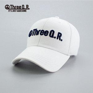 韩国 Three Q.R. 硬顶3D绣花时尚潮流运动棒球帽子 KR20CP006