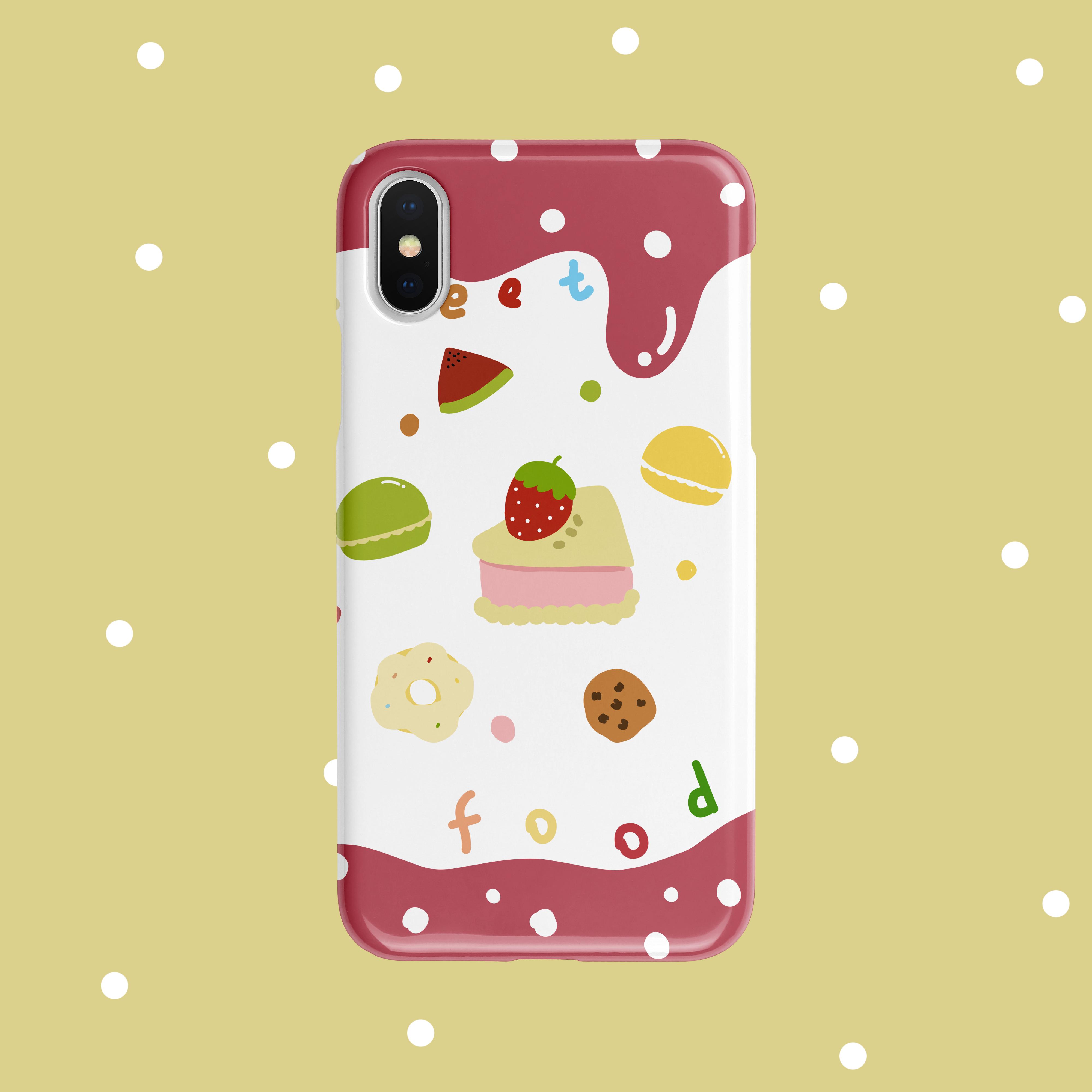 敲甜食物iphone11 /华为小米手机壳