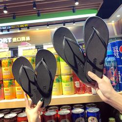 情侣人字拖女夏时尚外穿海边拖鞋男士夹脚防滑平底平跟沙滩凉拖鞋