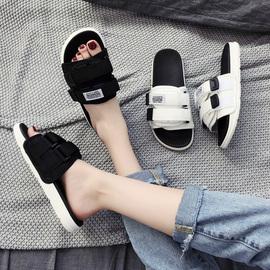 拖鞋女夏外穿2020新款防滑一字拖情侣沙滩韩版潮流时尚网红凉拖鞋图片