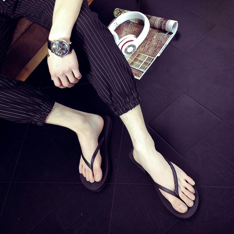 潮流人字拖男女夏情侣凉拖鞋平底防滑沙滩鞋韩版休闲夹脚皮拖包邮