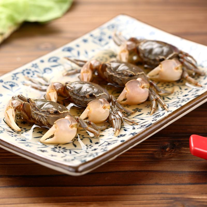 醉螃蜞 宁波海鲜 醉蟹蟛蜞咸蟹呛蟹白玉蟹小螃蟹即食下酒菜300g