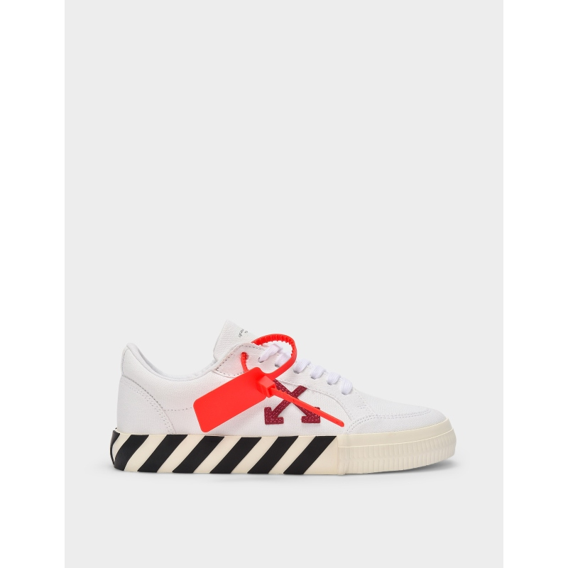 OFF WHITE Canvas Arrow Low Vulcanized白色低幫運動鞋20春夏新