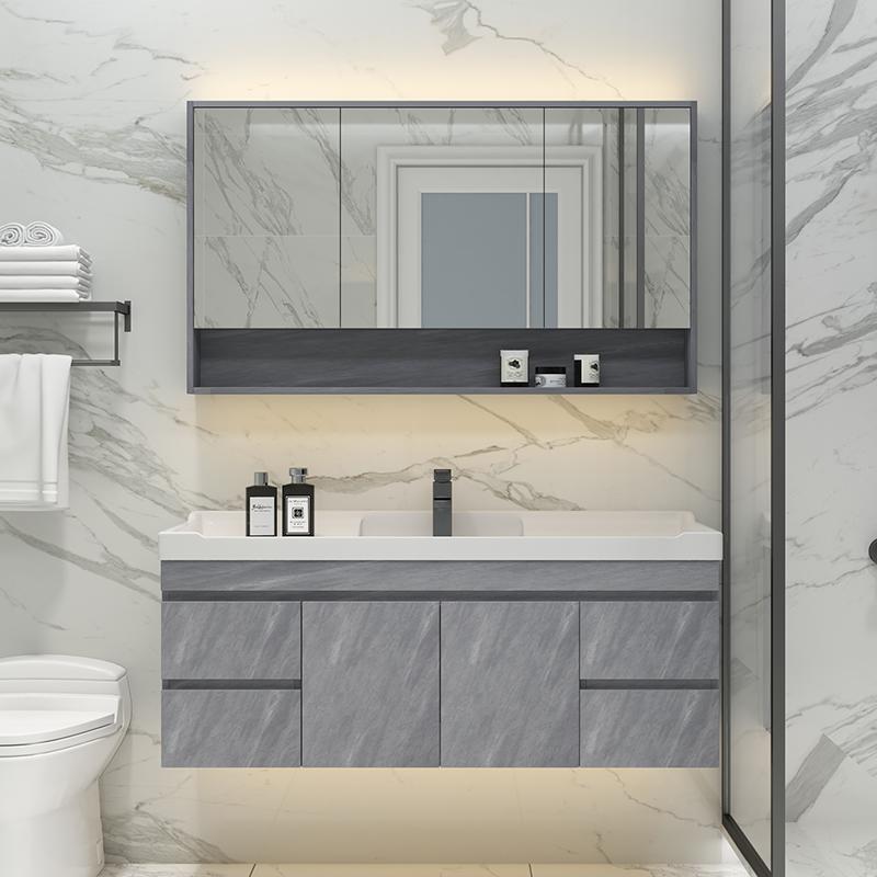 北欧实木洗脸池卫生间简约洗手盆柜