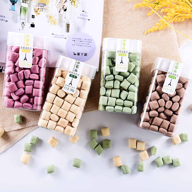 Dukezi small stone handmade biscuits net red snacks cookies can eat dormitory Matcha for a long time cocoa 150g