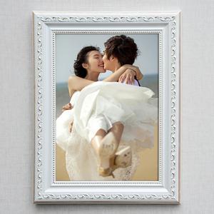 实木相框挂墙欧式像框a4 16 24 30寸婚纱照片框创意摆台画框定做
