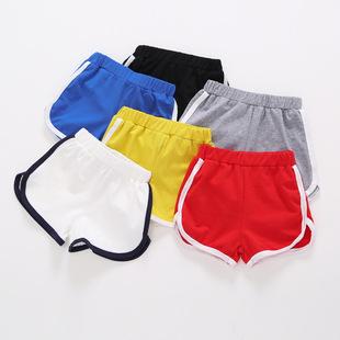 男童女童純棉短褲熱褲五分褲夏新款童裝寶寶兒童運動短褲沙灘褲子