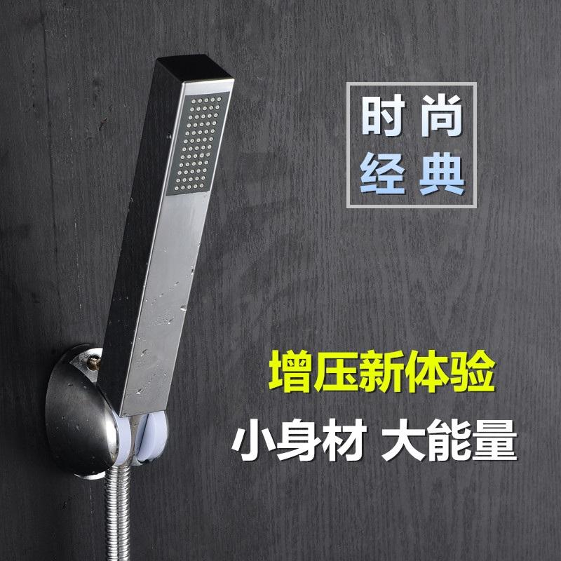 沐与方形手持增压花洒 淋浴喷头 方棒浴室洗浴喷头加压热水器通用